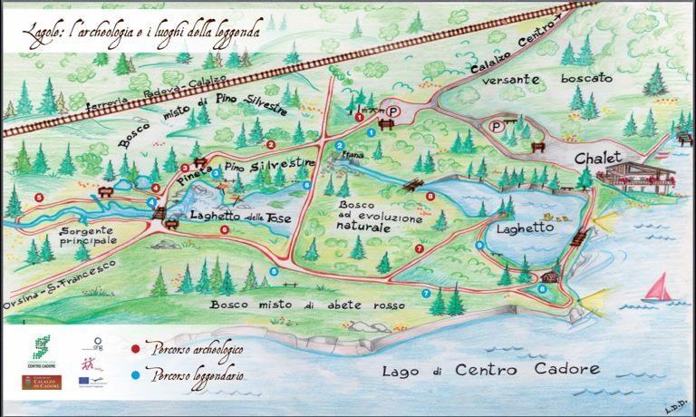 Mappa di Lagole (Calalzo di Cadore)